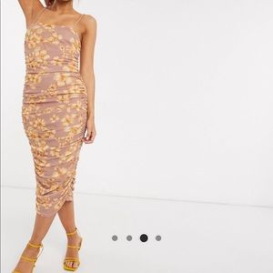 ASOS Dresses - New with all tags ASOS floral cami ruched dress